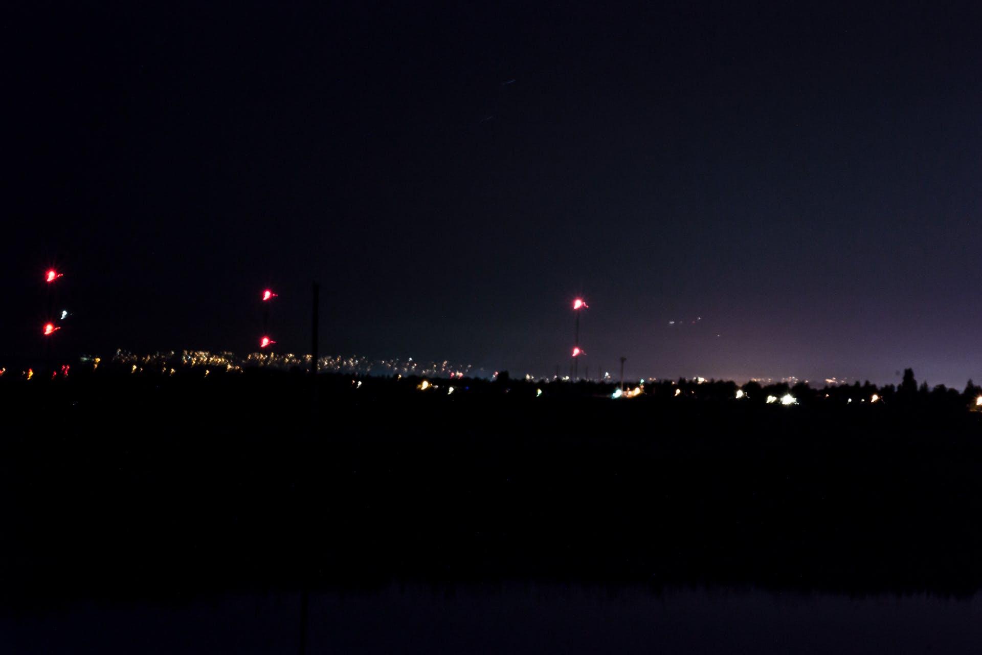 blurry background background horizon