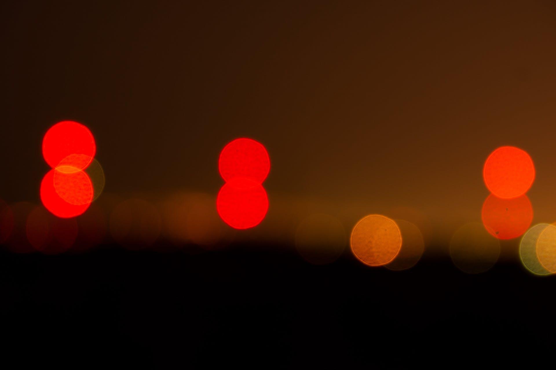 blurry background lights horizon