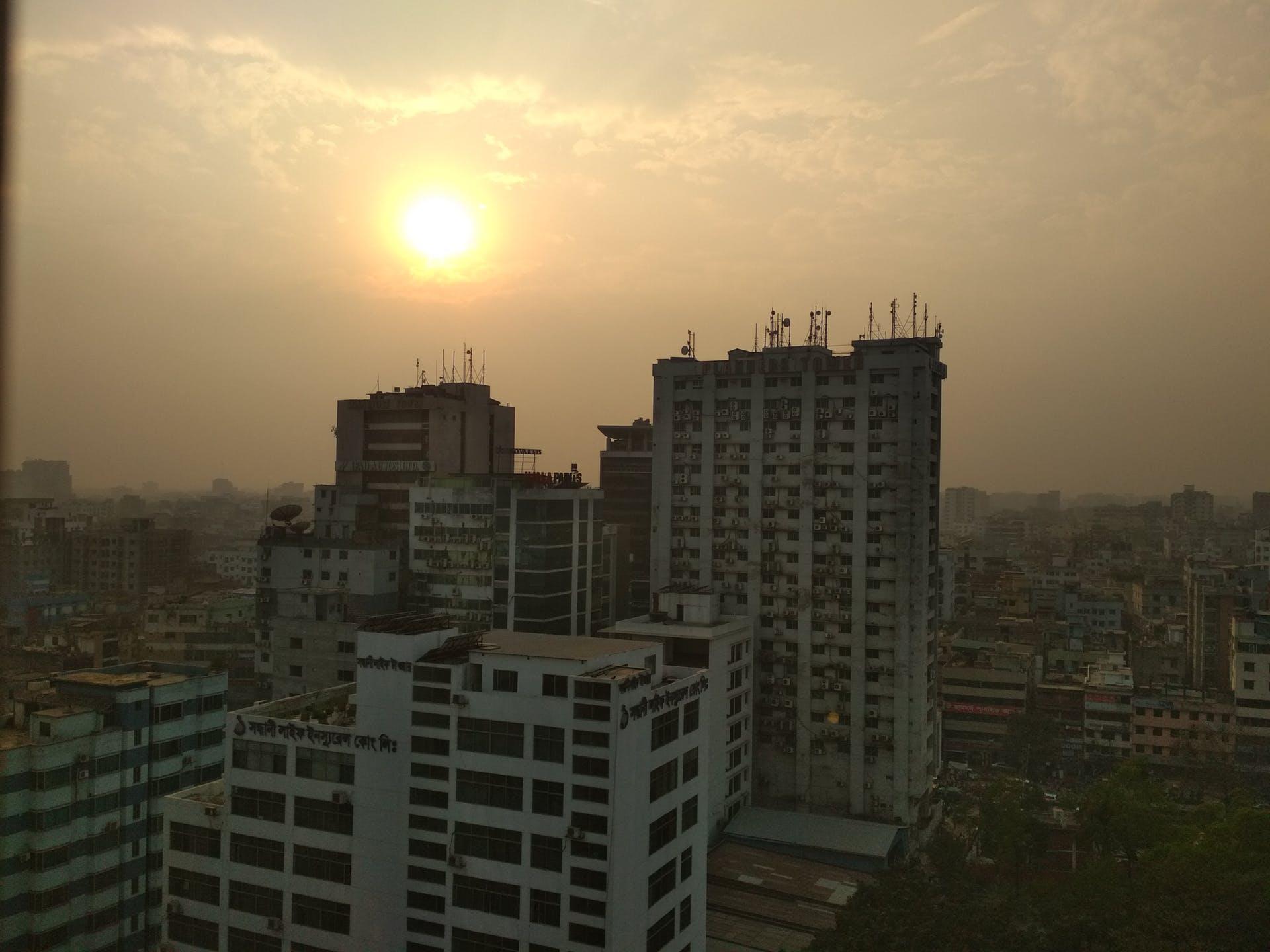 city sunset sunset in city