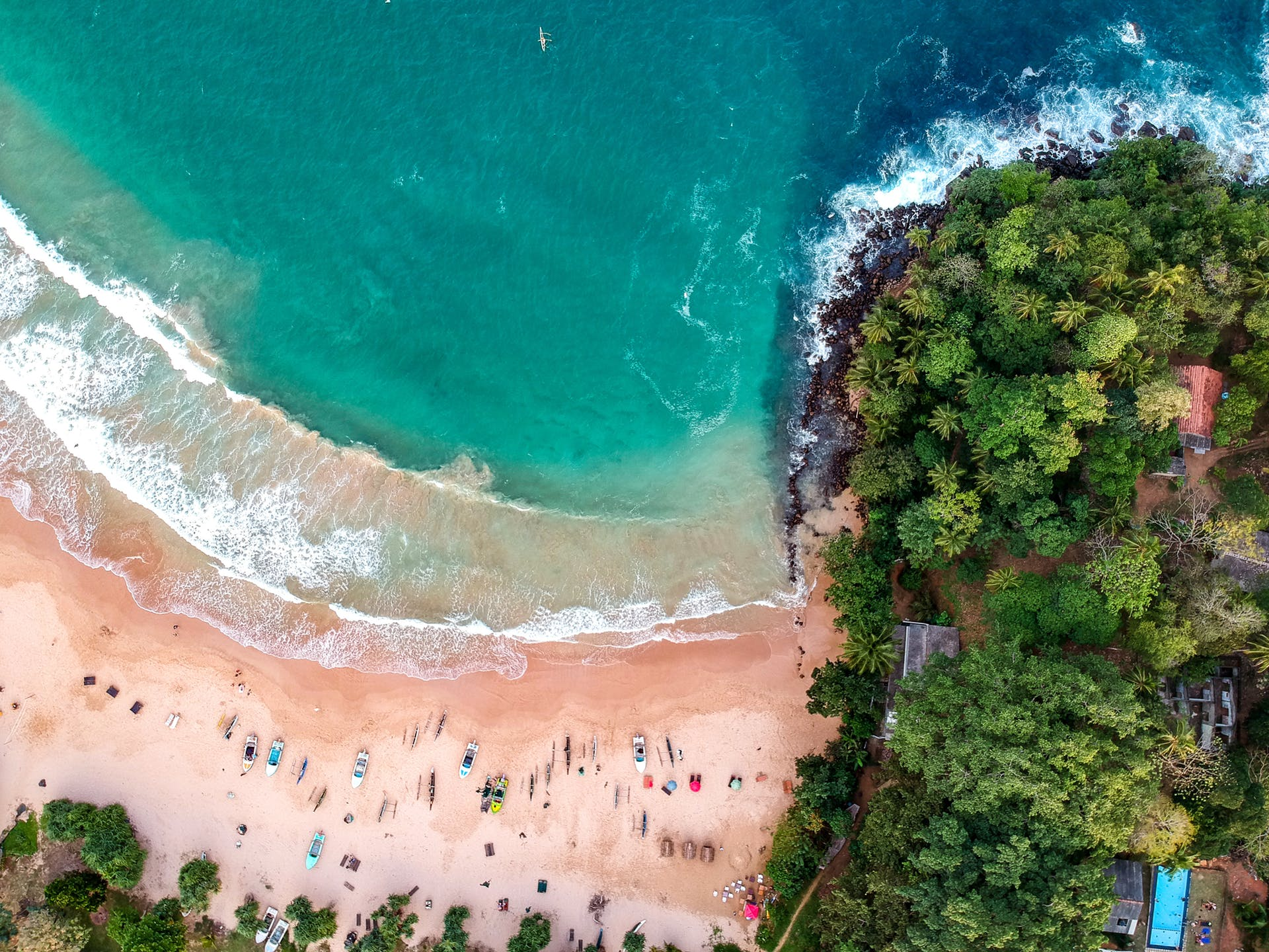 sea aerial shot drone shot landscape beach daylight waves high angle shot water sri lanka