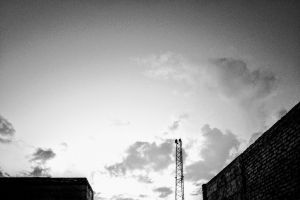adobe photoshop television tower abstract photo monochrome photography minimalism clouds outdoor photography stock photo black and white building