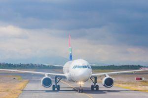 aeroplane wings sky transport