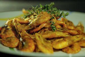 asia lunch cuisine tasty fresh healthy shrimp fried plate restaurant