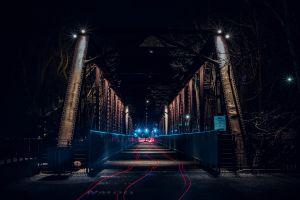asphalt long exposure urban light streaks dark night evening long-exposure road architecture