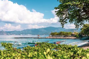attraction resort horizon sky blue landscape summer background bali seascape