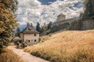 austria tower dry grass middle ages themiddleages wall fortress landscape salzburg old house