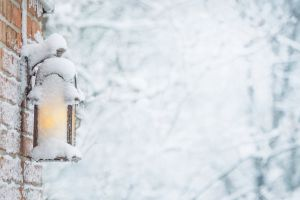 background snow frost lamp winter outdoor cold