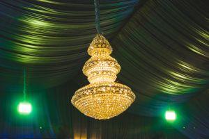 backlight fountain wedding lights light hall green night