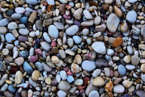 beach stones rocks colored