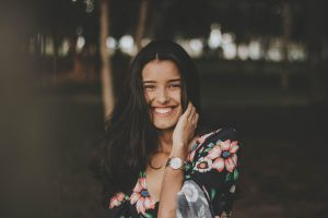 beauty style smiling brunette pretty smile wear person beautiful pose