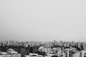 black-and-white downtown architecture buildings urban black and white skyscrapers high-rise city