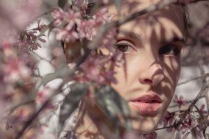 bloom beautiful beauty blossom woman branch flowers flora