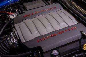 blue car engine red sports car car car engine car show corvette