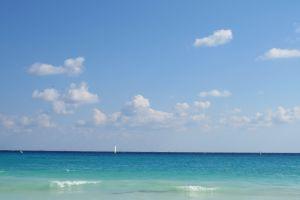 blue ocean beach