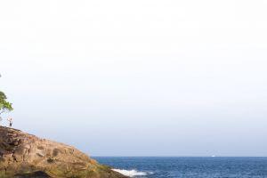 blue sky blue rocks guy sea men beach smartphone minimalism white guy