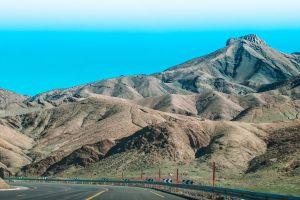 blue sky photography mountain