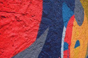 blue street artist wall street artist multi color art color painted wall multi colored