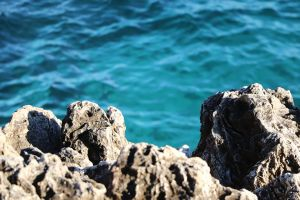 blue water rock south france mediterranean sea blue sea sea