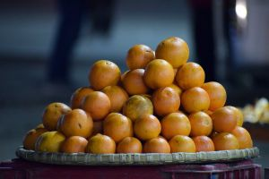 blur fruit basket fruits on sale blurred background oranges orange orange market asian food gray oranges on sale
