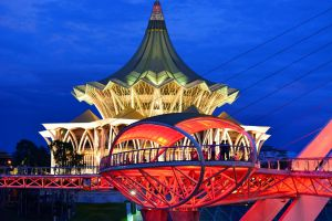 bridge attraction city borneo blogger kuching temple architecture sarawak malaysia