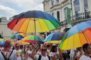 brighton lgbtq colorful colourful lgbt pride parade color gay pride colour