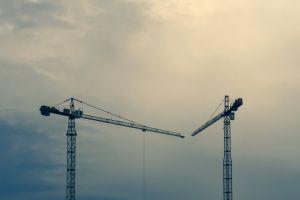 budapest europe crane building statue