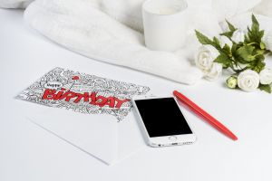 candle phone pen smartphone card greeting card