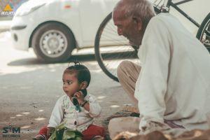 children child oldage ancient road colour eyes car sunny elder