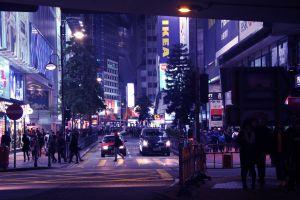 city center hongkong midnight street