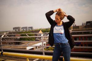 city nope girl rooftop urban fashion