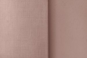 close-up textile pale rough linen fashion empty cloth peach weaving