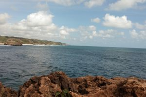 cloud 4k wallpaper rock blue corals sea #mobilechallenge traveling beach