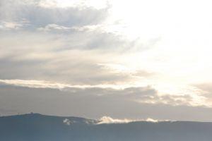 clouds athens mountain morning sun