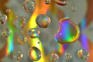 color water rainbow water droplet