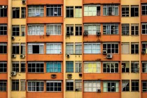 colors building urban aircon architecture beige residences orange residential high rise