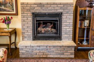 cozy home fireplace interior decoration interior interior design home staging home interior brick walls