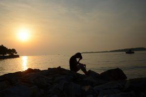 croatia summer sunset sea evening
