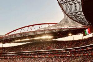 crowd people audience lisbon stadium