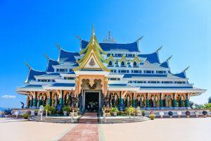 culture building temple buddhist design religion thani udon texture kon