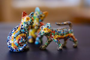 cute bright colours feline light reflections cats shadows collectors item playful pretty ornaments