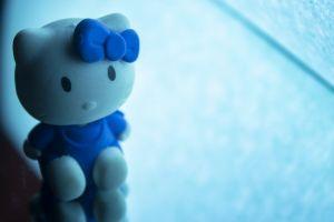 cyan light reflections mirror hello light toy kitty reflection blue hello kitty