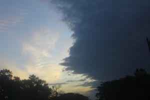 dark clouds sunset evening clouds dark