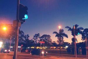 dawn night traffic