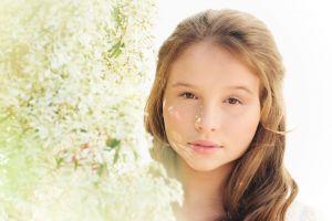 delicate woman flowers summer modelo makeup white beauty model teenager