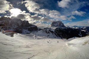 dolomites snow winter skiing resort skiing italy