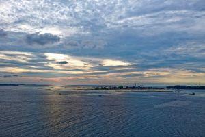 drone sea sunset wet landscape sun dawn color soil cloud