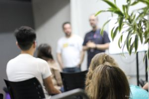 education talk meetup agile beer food beer lecture pizza castelo creative space brazil