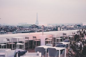 eiffel tower tower paris eiffel restaurant terrace city bar