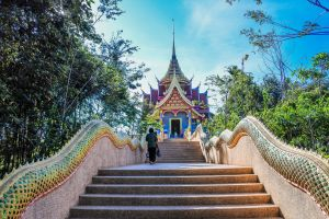 environment sky sangkhom beautiful scene cloud background star temple nongkhai