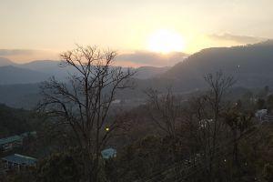 evening sky sunset time sunset indian hills evening sun himachal pradesh india prem kumar